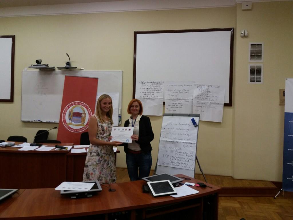 адвокат Ганна Лисенко, отримання сертифікату
